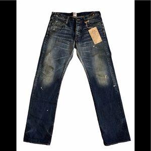 PRPS Japanese Blue Denim Distressed Jeans